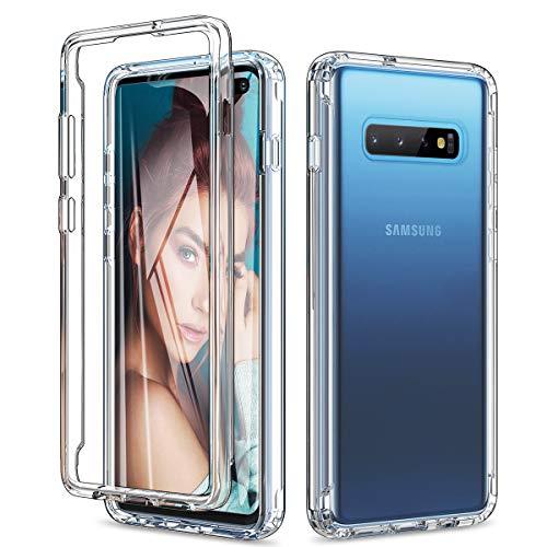 Yokata Cover per Samsung Galaxy S10+ Plus, Custodia Trasparente Silicone TPU Morbido + Hard Dura PC Slim Sottile Protettiva AntiGraffio Antiurto Resistente Bumper Caso Case Cover