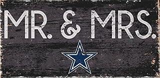 Fan Creations Dallas Cowboys Mr & Mrs Sign, Multi