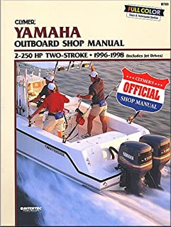 Clymer Repair Manual for Yamaha 4strk Otbd 72-225hp 2000-2004