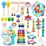 Ohuhu 27 Stück Musikinstrumente Musical Instruments Set, Spielzeug von Holz Percussion Schlagzeug...