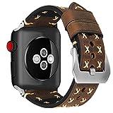 MroTech Armband kompatibel für iWatch 42mm Leder 44mm Watch Band Vintage Uhrenarmband Lederarmband...