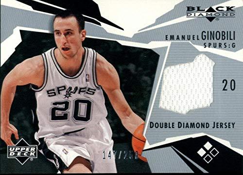 2003-04 Black Diamond Jerseys Double Manu Ginobili 147/250 San Antonio Spurs Basketball NBA
