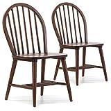 VS Venta-stock Pack 2 sillas Clarck Color Nogal, Madera Maciza, 48 cm (Largo) 48 cm (Profundo) 92 cm (Alto)