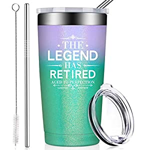 RETIREMENT GIFTS FOR WOMEN - This fun tumbler says it is the best retiring gifts for boss, employees, father, mother, grandma, grandpa, sister, brother, neighbor, sheriff, police doctor or any loved in your life. SPECIAL CELEBRATIONS SCENES THAT APPE...