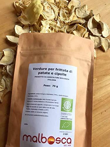 Verdure biologiche per frittata a base di patate e cipolle SENZA CONSERVANTI 100% verdura italiana SENZA additivi SOLO verdura fresca ITALIANA disidratata per le frittate pronte 100% vegetali