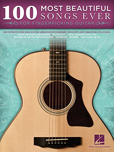 100 Most Beautiful Songs Ever for Fingerpicking Guitar (Songbook) (GUITARE) (English Edition)