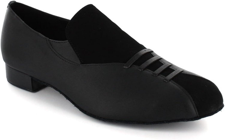 TDA Men's JF251501 Slip OnSuede Leather Ballroom Latin Dance shoes