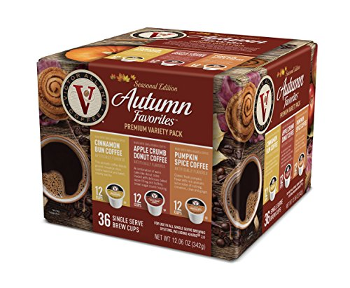 Victor Allen Coffee Autumn Favorites Single Serve 36 Count (Compatible with 2.0 Keurig Brewers)