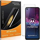 SWIDO Schutzfolie für Motorola One Action [2 Stück] Anti-Reflex MATT Entspiegelnd, Hoher Festigkeitgrad, Schutz vor Kratzer/Folie, Bildschirmschutz, Bildschirmschutzfolie, Panzerglas-Folie