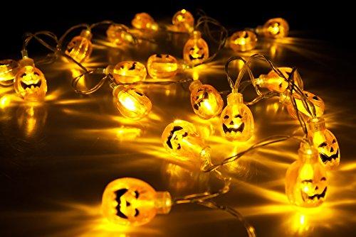 Velice Battery Operated LED Fairy String Lights 3D Pumpkin 20 LED Lights Halloween Christmas Decoration Lights (Pumpkin Light)