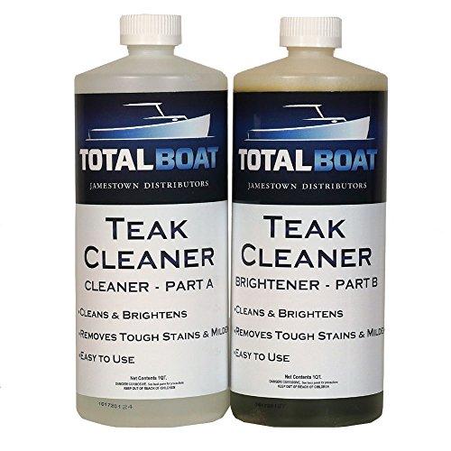 TotalBoat Teak Cleaner Kit (2 Quart) | Brightener Restores Teak Wood on Boats & Outdoor Furniture