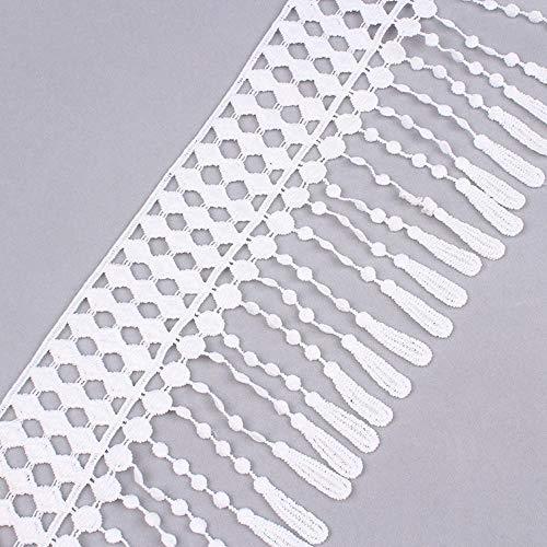 2yards 13 cm breed oplosbare kanten omzoomd kleine tapestuk lijmrups op het verpakkingsmateriaal van de rand van het gordijn naaimachines kleden DIY