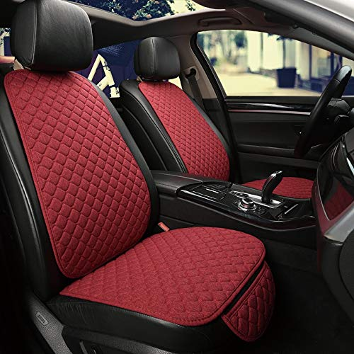 LZRDZSW Car Accessories Seat Cover Protector Front Cushion Pad Car seat Front Rear Back Cushion Pad Mat with Backrest Seat Cushion (Color Name : Beige 2 seat)