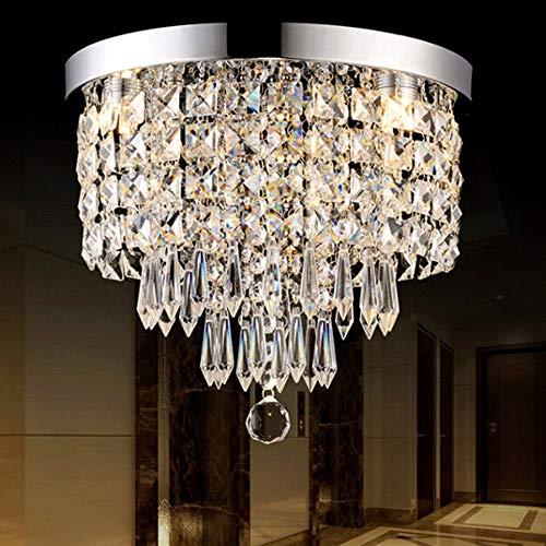 Iluminación de Cocina para el hogar Colgante Ronda Led araña de cristal, (se enciende la luz de inicio, Representante cristalina de lujo es a), Adecuado for Salón Comedor Sala de Estudio Dormitorio
