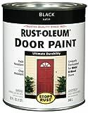 Rust-Oleum 238310 Door Paint, Black, 1-Quart