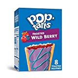 Pop-Tarts, Breakfast Toaster Pastries, Frosted Wild Berry, Proudly Baked in the USA, 13.5oz Box (8 Count)