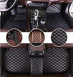 Muchkey Tapis de Sol pour Audi A5 2017-2019 4door Sedan en Cuir Imperméables Tapis de Voiture Accessoires Noir