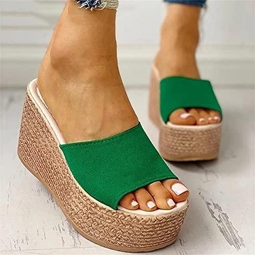 Liart Sandalias para Mujer Tacones de Cuña Zapatillas de Plataforma Verano Cómodo Informal con Punta Abierta Chanclas Antideslizantes