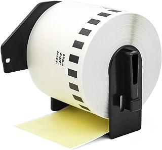 """Label Orison-Replace DK-2205 Yellow Continuous Paper Tape Labels DK22205 62mm x 30.48m(2-3/7"""" x 100') for QL-820NWB QL-710..."""