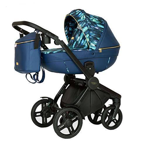 Krausman Kinderwagen 3 in 1 Topaz Lux Dark Blue LIMITED Kombikinderwagen Babyschale Babywanne Sportwagen Design Made In Germany