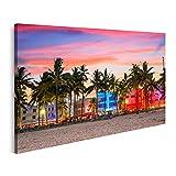 Bild auf Leinwand Miami Beach Florida Bilder Wandbild