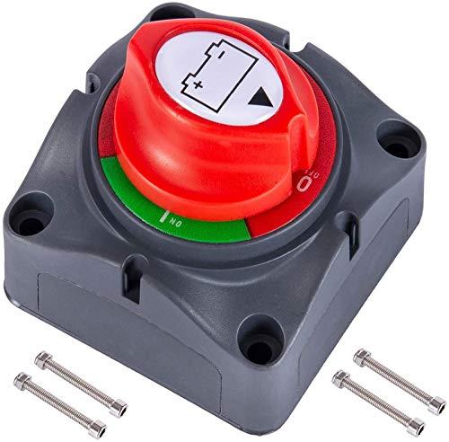 Kohree Coupe Circuit de Batterie 12V - 48V Interrupteur Isolateur de Batterie, Interrupteur de Déconnexion de Batterie étanche 275A Commutateur d'Isolateur de Batterie pour Voitures, Bateaux,Véhicules