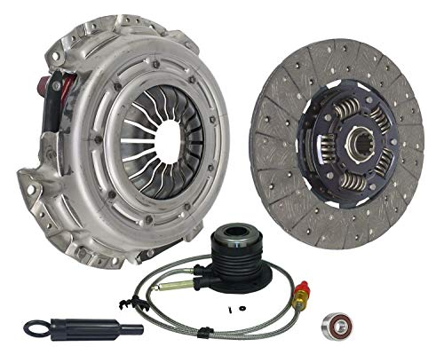 Clutch And Slave Kit Compatible With Astro Express 1500 2500 Silverado 1500 Sierra 1500 Base Lt Wt Ls Standard Passenger 2001-2007 4.3L V6 Gas Ohv Naturally Aspirated (04-157S)