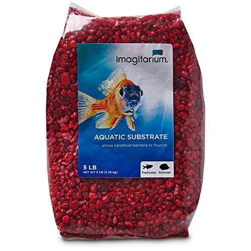 Petco Brand - Imagitarium Strawberry Red Aquarium Gravel, 5 lbs