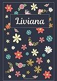 Liviana: Taccuino | Diario | Sketchbook | 120 pagine | A4 | Bianco | Idee regalo
