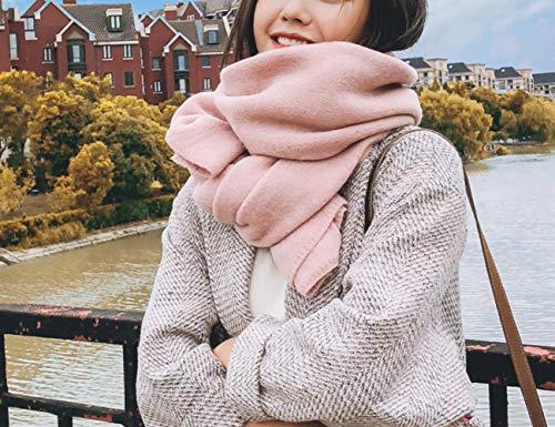 bufanda de mujer cálida y gruesa chal retro bufanda de celosía de...