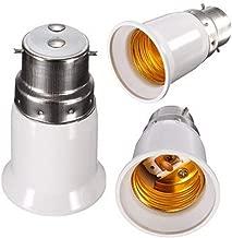 FENGLANG Bulb Holder E27 to B22 Adapter Converter - E26 Light Socket to B22 Light Bulb Base Socket, Fits LED/CFL Light Bulbs, Heat-resistant, Anti-burning, No Fire Hazard(5 Pack)