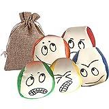ARVOV Jonglierbälle für Anfänger, 5 STÜCKE Jonglierball Set, Jonglierbälle mit Naturfüllung, Jonglierball Mädchen und Jungen, pädagogischer Jonglierball für drinnen und draußen