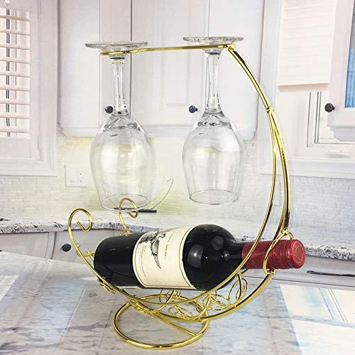 Glazen houder fles hangende kunst bar organizer metalen houder vintage display standaard wijnrek hoofddecoratie B