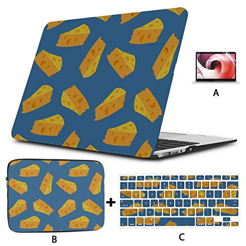 MacBook Air 1466 Case Tempting Delicious Cute Cheese Sauce Laptop Cases Hard Shell Mac Air 11'/13' Pro 13'/15'/16' with Notebook Sleeve Bag for MacBook 2008-2020 Version