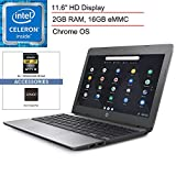 2020 HP Chromebook 11.6' Lightweight Laptop Computer for Business Student, Intel Celeron N3050 up to 2.16GHz, 2GB RAM, 16GB eMMC, 11+ Hour Battery, Chrome OS, SPMOR MousePad + 64GB SD Card (Renewed)
