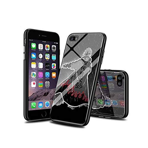 WuSzlON Compatible con iPhone 8 Plus Funda, iPhone 7 Plus Funda, Cristal Templado Delgado, Resistente a los arañazos, Suave Borde de TPU anticaídas para iPhone 8 Plus/iPhone 7 Plus D 008