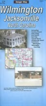 MAP OF WILMINGTON - JACKSONVILLE NORTH CAROLINA / AREA MAP /STREETS+++