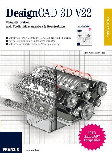 DesignCAD 3D V22: Complete Edition inkl. Toolkit Maschinenbau & Konstruktion