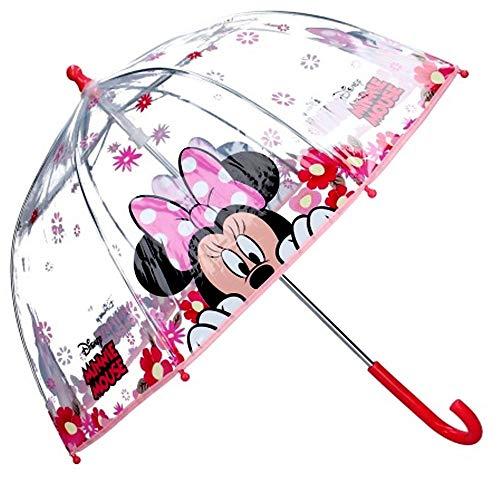 Paraguas Cúpula Transparente Manual Paraguas Niña Infantil Paraguas Minnie Mouse 60cm