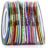 30 Colors Mixed Colors Rolls Nail Art Striping Tape Decoration Sticker Nail Line DIY Nail Tip