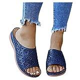 BIBOKAOKE Zapatillas planas para mujer, para estar por casa, masaje, sandalias, transpirables, antideslizantes, zapatillas para correr, informales, cómodas, zapatillas de verano