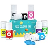 JIM'S STORE 8 * 12.5g colorante alimentare gel set concentrarsi vegano senza glutine senza alcool senza...