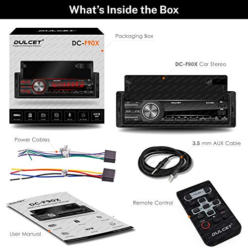 Dulcet DC-F90X 220W Single Din Mp3 Car Stereo