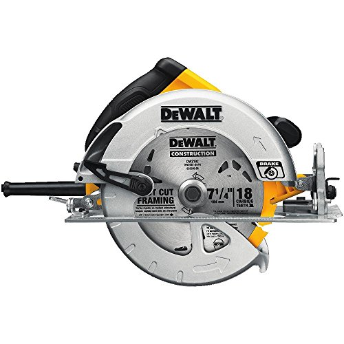 DEWALT Circular Saw with Electric Brake, 7-1/4-Inch 15-Amp (DWE575SB)