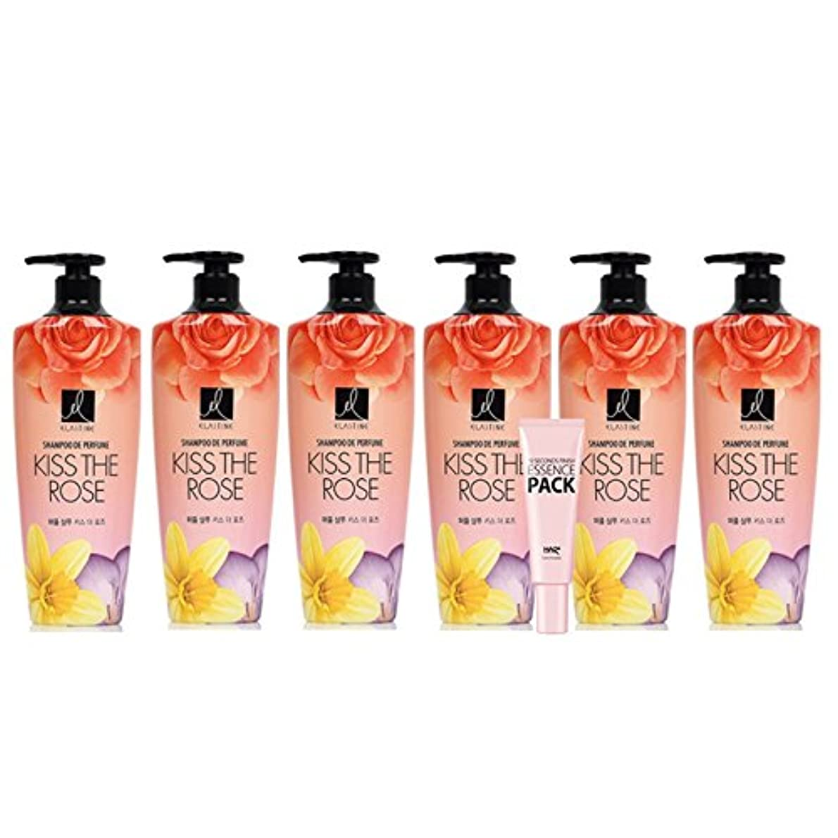 海藻理容師天の【Elastine】【エラスチン】Perfume KISS THE ROSS シャンプー600ml 6本 + ヘアプラスエッセンスパック 9.3ml