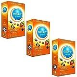 Exure - 3 paquets de 18 préservatifs fruités aromatisés (54) - 100% testé électroniquement, certifié CE0123