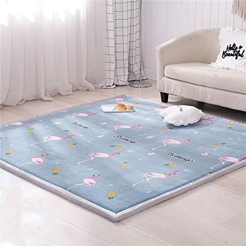 GBFR Alfombra Infantil Brillante para el hogar Alfombra de Lana coralina Alfombra de Tatami Alfombra de Sala de Estar Alfombra de Dormitorio Alfombra de Juego para bebés