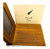 G3 TRENDZ - Personalized Engraved Leather Mens Wallet, for DAD on his Birthday, Anniversary, Fathers Day and Other Special Occasions (to DAD (Wallet+Card))