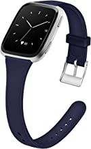 MEFEO Compatible with Fitbit Versa Bands, Slim Soft Silicone Sport Band Thin Narrow Wristband Replacement Strap for Fitbit Versa/Versa 2/Versa Lite Edition Women Men