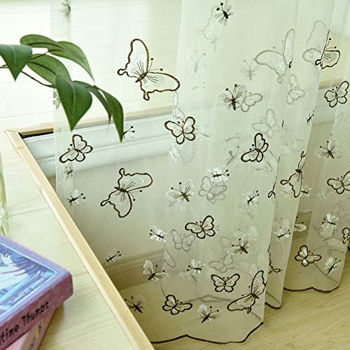 cortinas cortas translucidas enganches